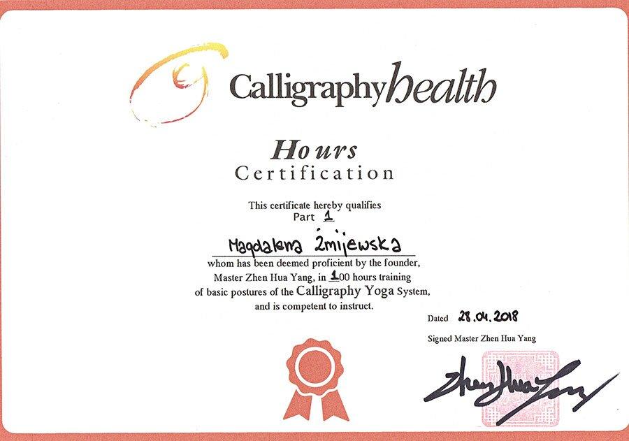 certyfikat-Calligraphy-Yoga